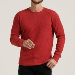 Lucky Brand - Snow Heather Thermal Crew Tee in Red